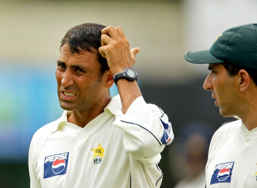 Younis scratches his head